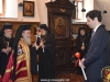 His Beatitude blessing at His entrance and the Consul General