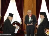 His Beatitude offering Mr. Mihalyi a copy of Komnenos' cross
