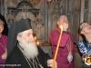 His Beatitude guiding Rev. Welby inside the Sacred Edicule