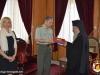 Major General Mr. Stamatiadis offering His Beatitude a present-sword