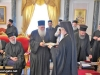 His Beatitude offering Arch. Ephraim an icon of the Sacred Edicule