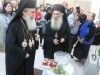 5. His Beatitude Patriarch Theophilos with Archimandrite Ioustinos on the day of the reopening the Church after restoration in November 2014