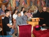 Archimandrite Aristovoulos with children from Nazareth