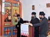 Monks from St. Savvas' singing at the Divine Liturgy