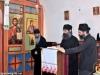 Monks from St. Savvas' singing at the Divine Liturgy