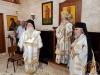 His Beatitude & the Priests dressed at the Divine Liturgy