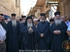 His Beatitude and the Hagiotaphite Brotherhood standing at the crossing of Patriarchate Road