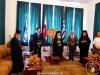 Hegoumen Archimandrite Klavdios offers a reception at the hegoumeneion