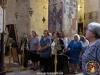 Noble pilgrims at the Divine Liturgy