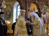 His Beatitude offers Metropolitan Juvenalii an icon of the Lord's Resurrection