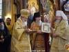 The Most Reverend Metropolitan Juvenalii offers His Beatitude an anniversary souvenir