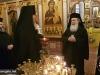 His Beatitude offering a gift to the Hegoumen Archimandrite Savvas
