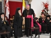 His Beatitude congratulating H.B. Pierre Battista for Christamas
