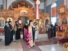 The Most Rev. Archbishop of Lydda Demetrios blessing on the entrance