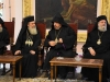 H.H.B. the Patriarch of Jerusalem Theophilos conversing with H.B. the Armenian Patriarch Manoukian