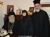 Reception after the Divine Liturgy. Nun Christonymfi and the Most Reverend Metropolitans Isychios and Joachim