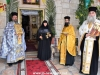 Abbess Seraphima, Fr. Nectarios and Fr. Charalambos at the Archbishops welcome