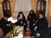 Abbess Seraphima offers a reception to His Beatitude and His entourage