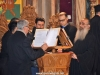 The choir leader Archimandrite Aristovoulos with his helpers at the choir