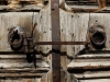 The 3 Major Communities of the Holy Sepulchre close the door of the Church