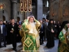 The Most Rev. Metropolitan Sioni from the Church of Bulgaria holding the Sacred Cross at the Holy Litany