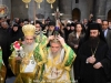 The Most Rev. Archbishop Aristarchos of Constantina holding the Sacred Cross at the Holy Litany