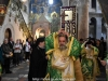 The Most Rev. Archbishop Theodosios of Sebastiya holding the Sacred Cross at the Holy Litany
