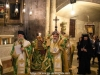 The Most Rev. Metropolitan Joachim of Helenoupolis holding the Sacred Cross at the Holy Litany
