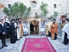 Gathering of Priests and Pilgrims at the courtyard to welcome His Beatitude