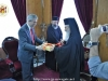 The Minister of Justice Mr. Kontonis and His Beatitude exchanging gifts