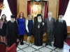 Commemorative photo from the meeting of Minister of Justice Mr. Kontonis with His Beatitude and Hagiotaphite Fathers
