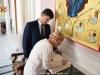 Mrs. Tymoshenko signs the visitors' book