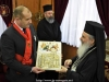 His Beatitude offers Mr. Radev an icon