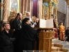 Archimandrite Aristovoulos with the choir