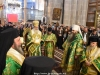 Their Eminences the Archbishops and Priests in their liturgical vestments at the Catholicon