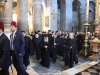 The Hagiotaphite Brotherhood enters the Church of the Holy Sepulchre for the 1st Service of the Bridegroom