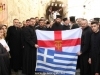 The Hagiotaphite Brotherhood outside the gate of the Patriarchate