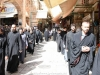 The procession of the Cross from the Praetorion to Via Dolorosa