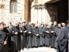 The guards of the Holy Sepulchre helping at the Procession