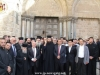 The Hagiotaphite Brotherhood outside the gate of the Church of the Holy Sepulchre