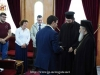 His Beatitude blesses the cassock of novice Constantinos Papadopoulos