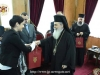 His Beatitude offers the delegation souvenirs from the Patriarchate