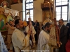 The entourage and the congregation at the Paschal Divine Liturgy