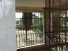 Violation of the railing and wire mesh of the chapel