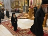 His Beatitude arrives at the Catholicon for veneration