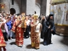The H. Procession three times around the Holy Sepulchre