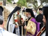 His Eminence's welcome at the Holy Zion courtyard