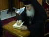 His Beatitude signs the Volume of the History of Jerusalem, a gift to His Eminence