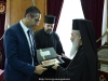 His Beatitude offers Mr. Aggelidis an icon of Theotokos of Jerusalem