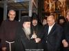 Mr Margie congratulates the Patriarch